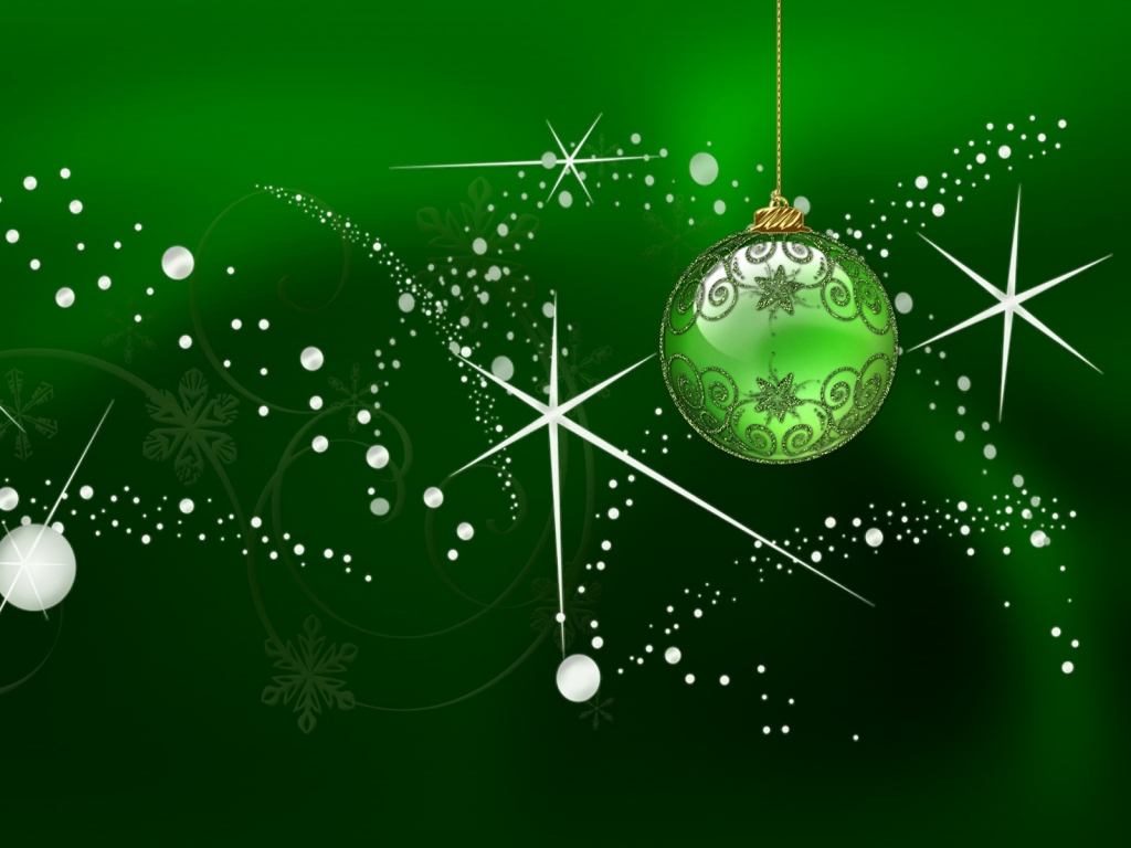 Green Globe for Chirstmas for 1024 x 768 resolution