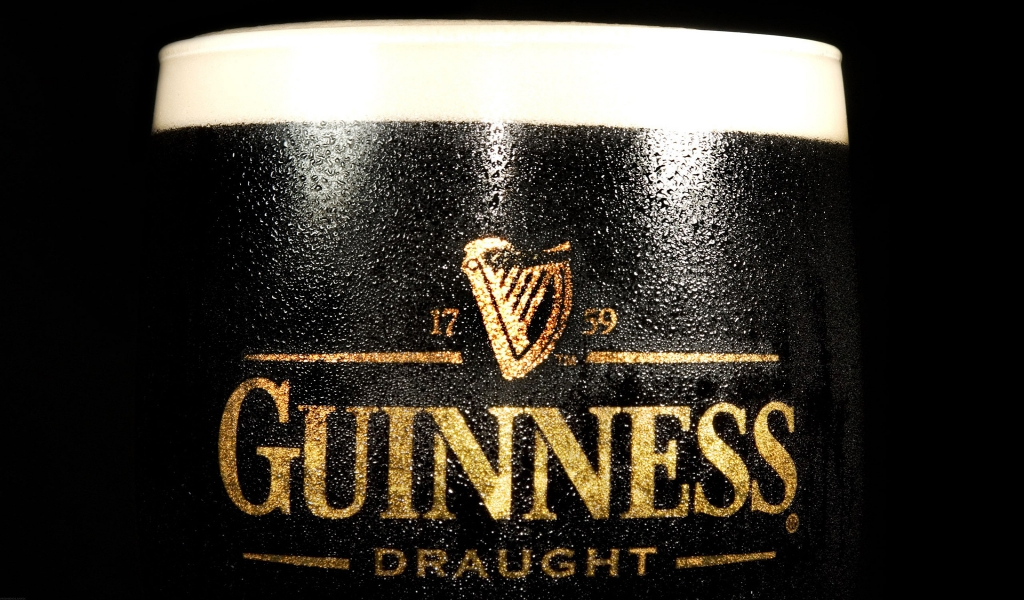 Guinness Draught for 1024 x 600 widescreen resolution