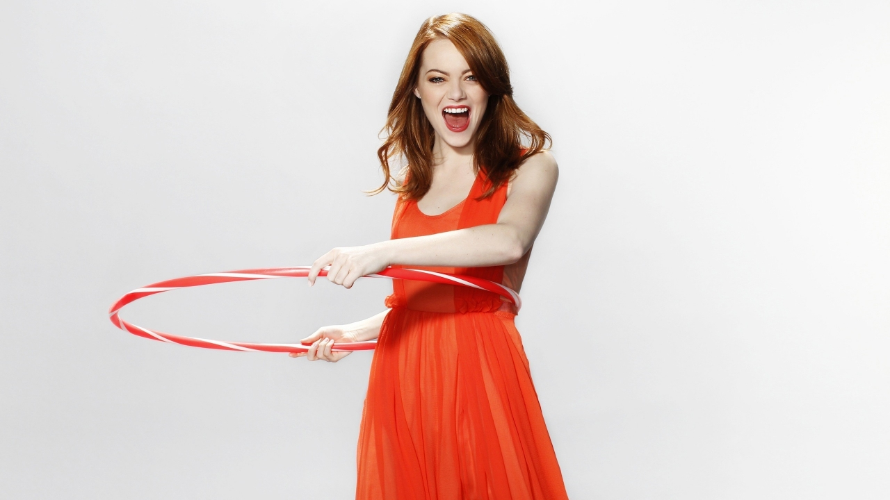 Happy Emma Stone for 1280 x 720 HDTV 720p resolution