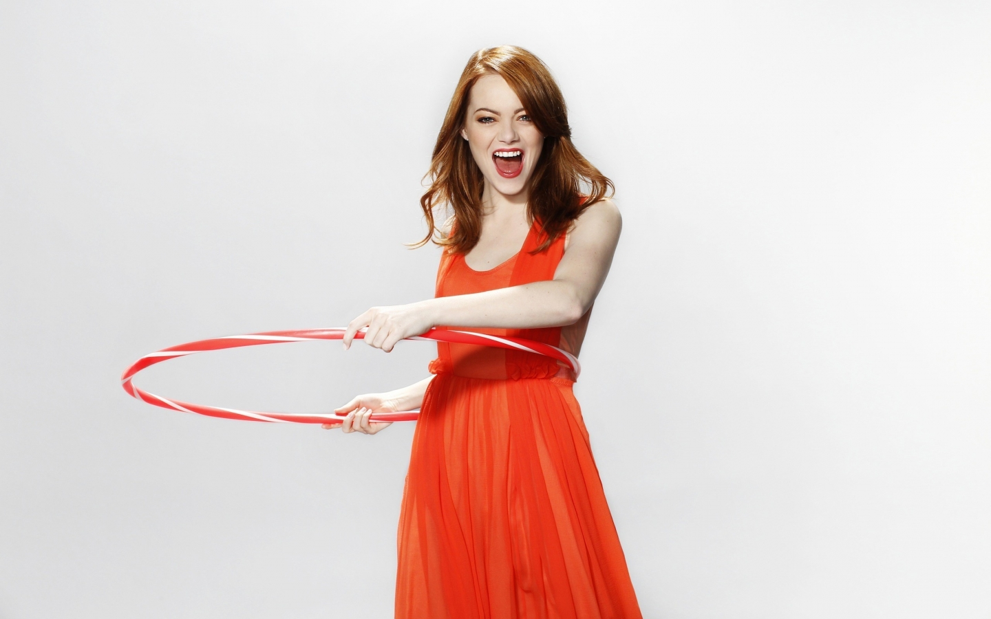 Happy Emma Stone for 1440 x 900 widescreen resolution