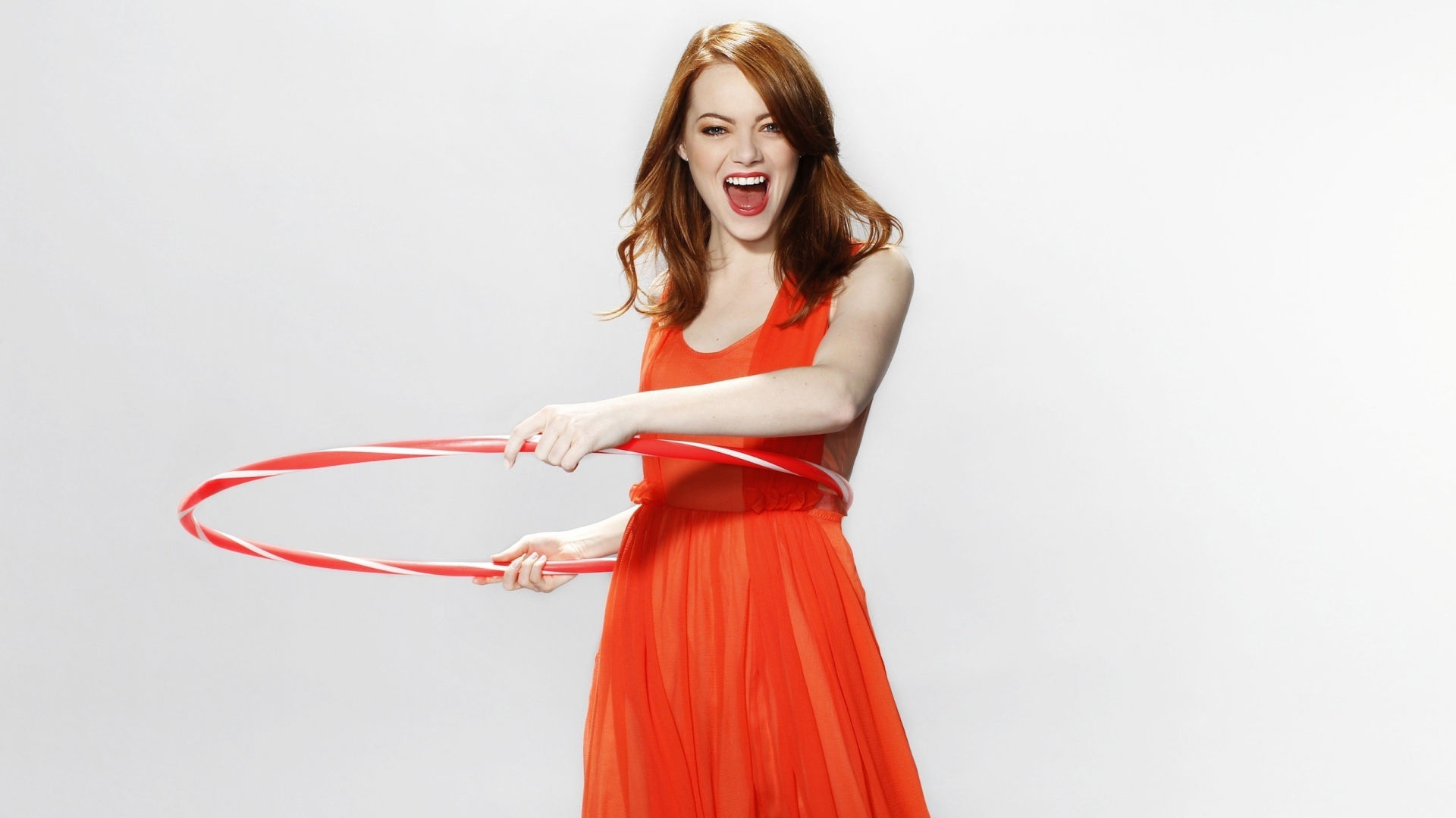 Happy Emma Stone for 1920 x 1080 HDTV 1080p resolution