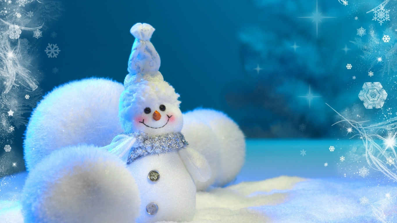 Happy Little Snowman for 1366 x 768 HDTV resolution
