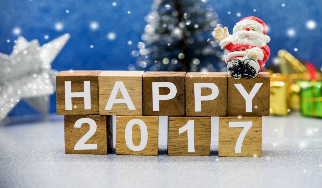 Happy New Year 2017 for 1024 x 600 widescreen resolution