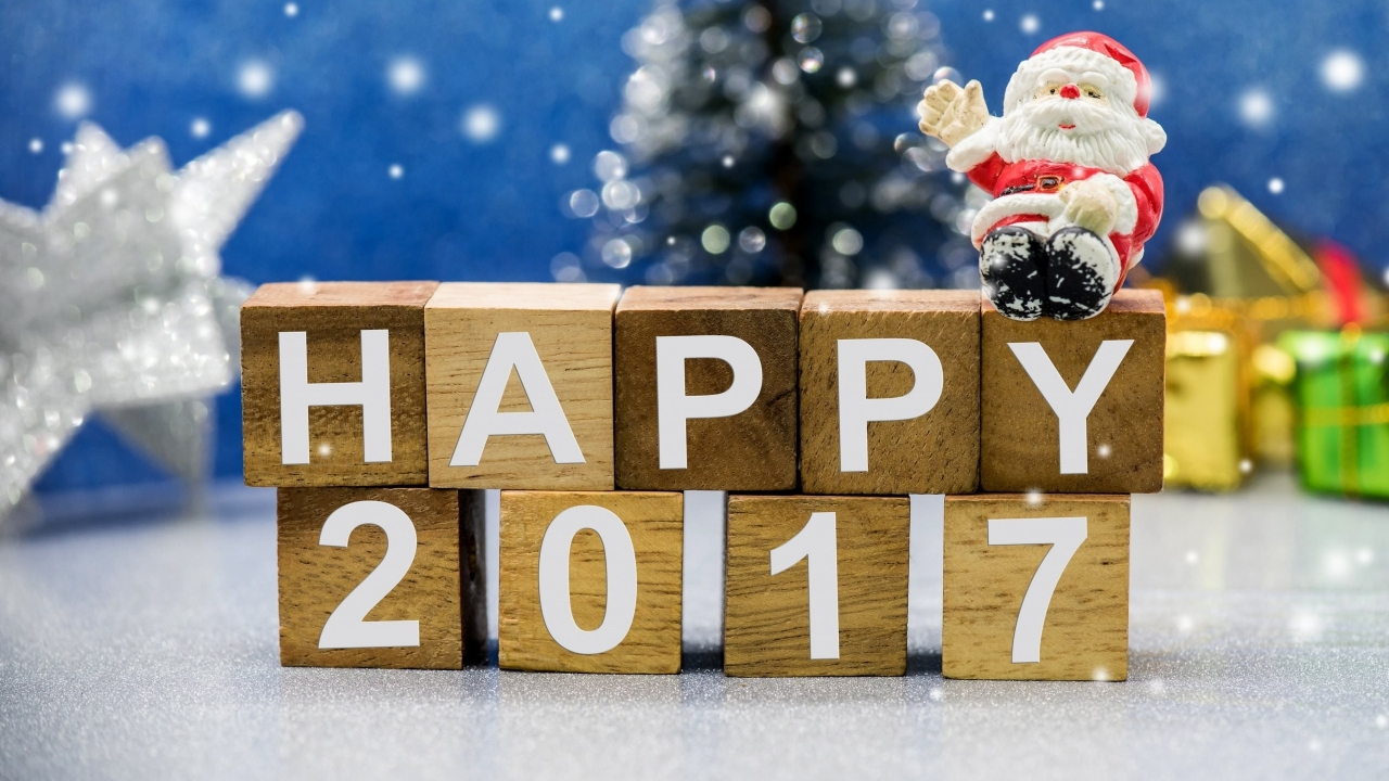 Happy New Year 2017 for 1280 x 720 HDTV 720p resolution