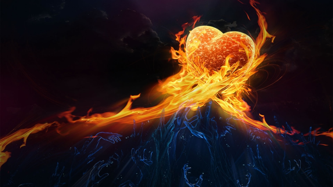 Heart in Fire for 1280 x 720 HDTV 720p resolution