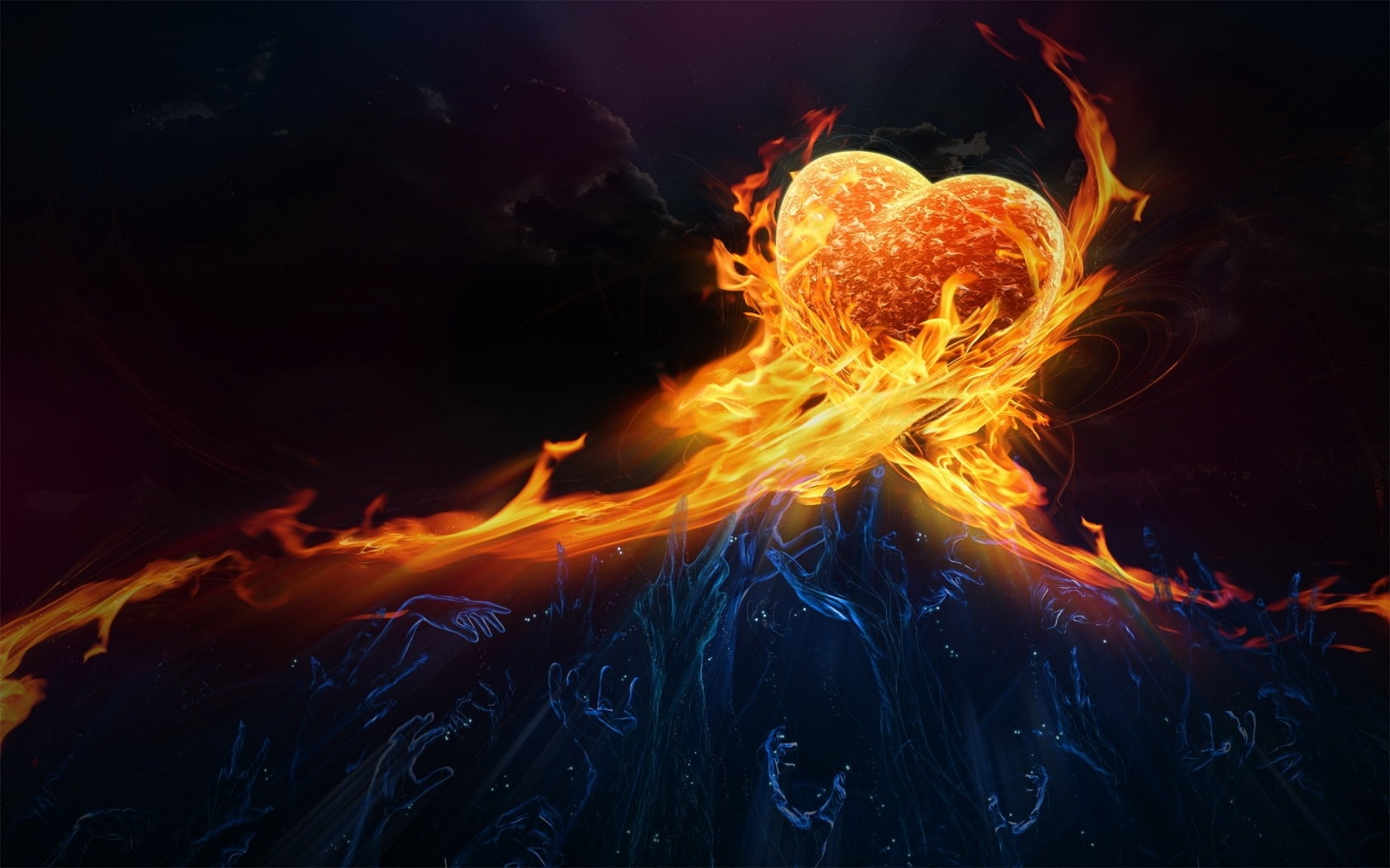 Heart in Fire for 1680 x 1050 widescreen resolution