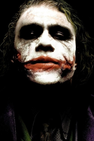 Heath Ledger The Joker for 320 x 480 iPhone resolution
