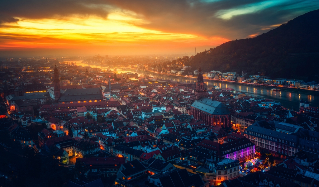 Heidelberg Germany for 1024 x 600 widescreen resolution