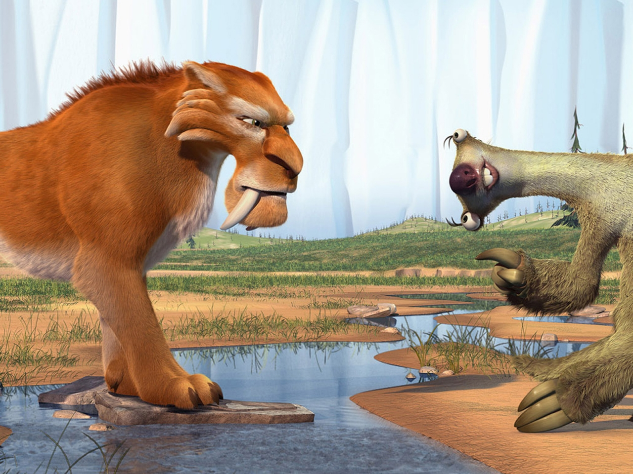 Ice Age Diego and Sid for 1280 x 960 resolution