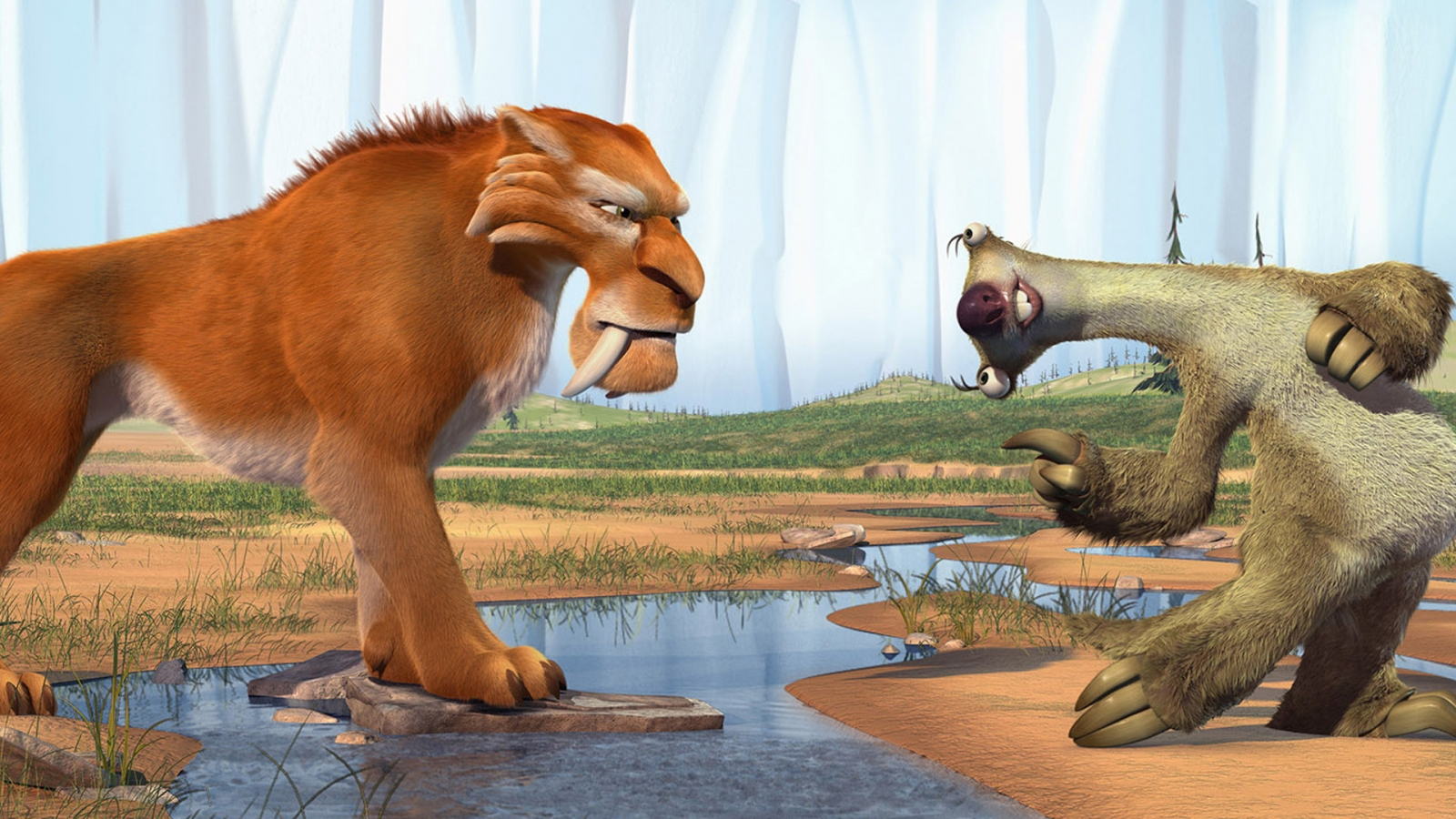 Ice Age Diego and Sid for 1600 x 900 HDTV resolution