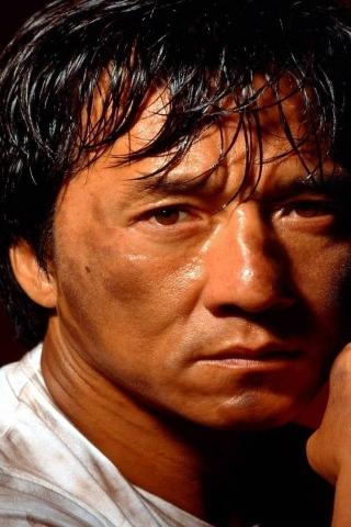 Jackie Chan Pose 320 X 480 Iphone Wallpaper