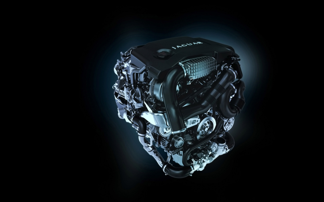 Jaguar XF Diesel S Engine for 1280 x 800 widescreen resolution