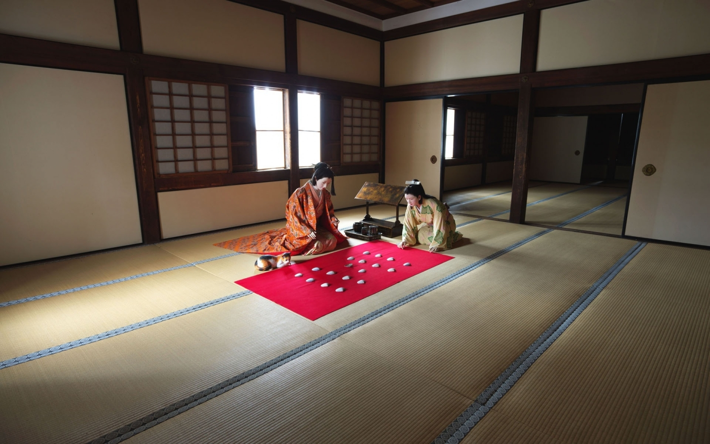 Japanese traditional women for 1440 x 900 widescreen resolution