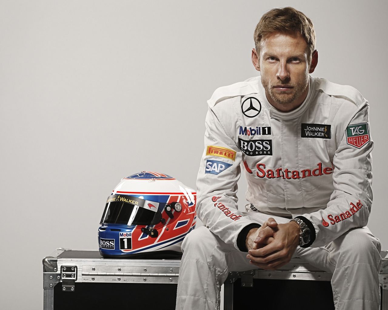 Jenson Button Formula One for 1280 x 1024 resolution
