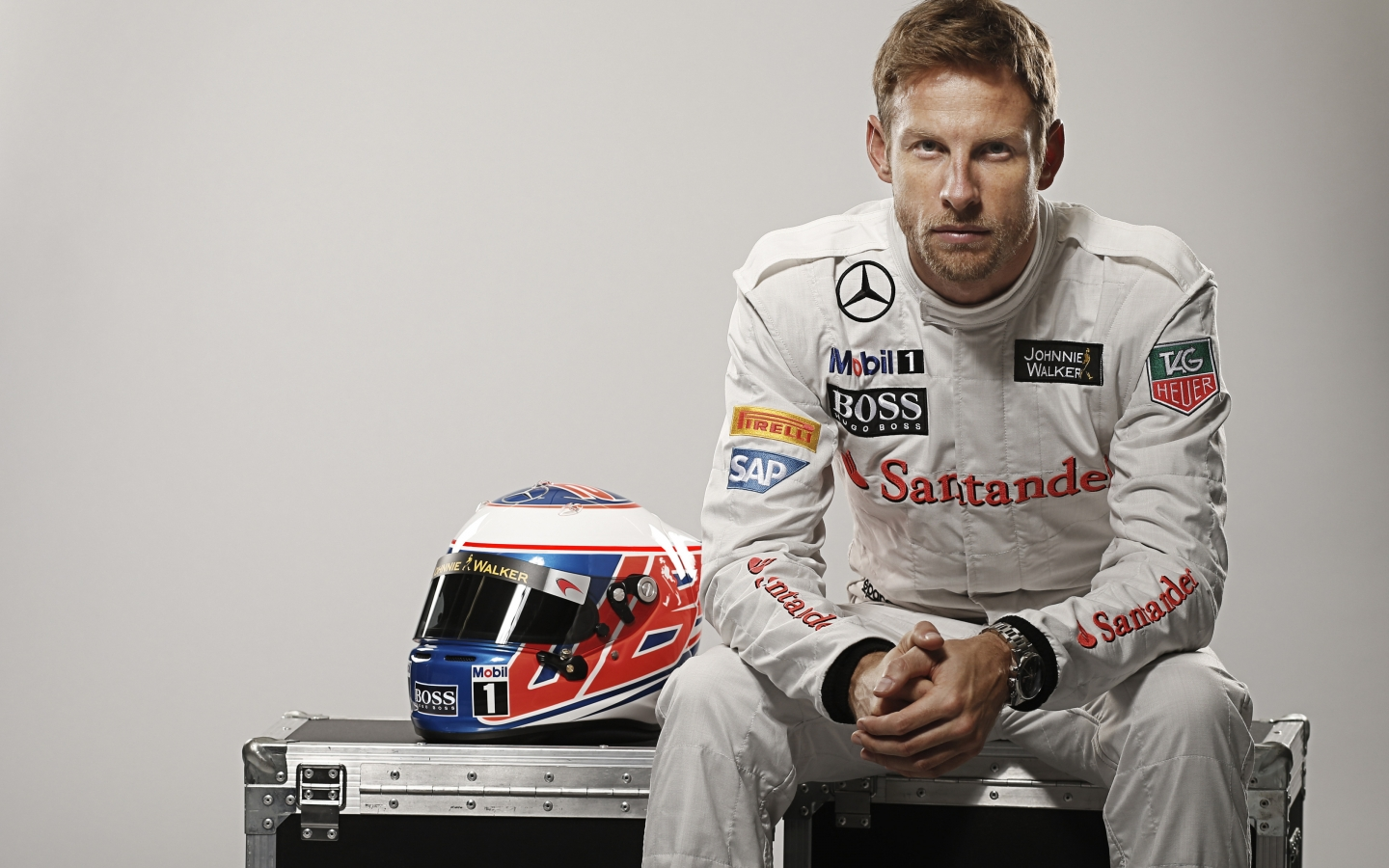 Jenson Button Formula One for 1440 x 900 widescreen resolution