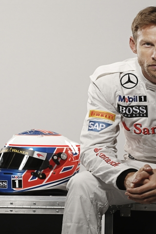 Jenson Button Formula One for 320 x 480 iPhone resolution