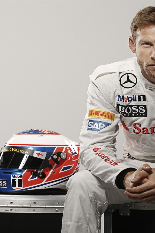 Jenson Button Formula One for 640 x 960 iPhone 4 resolution