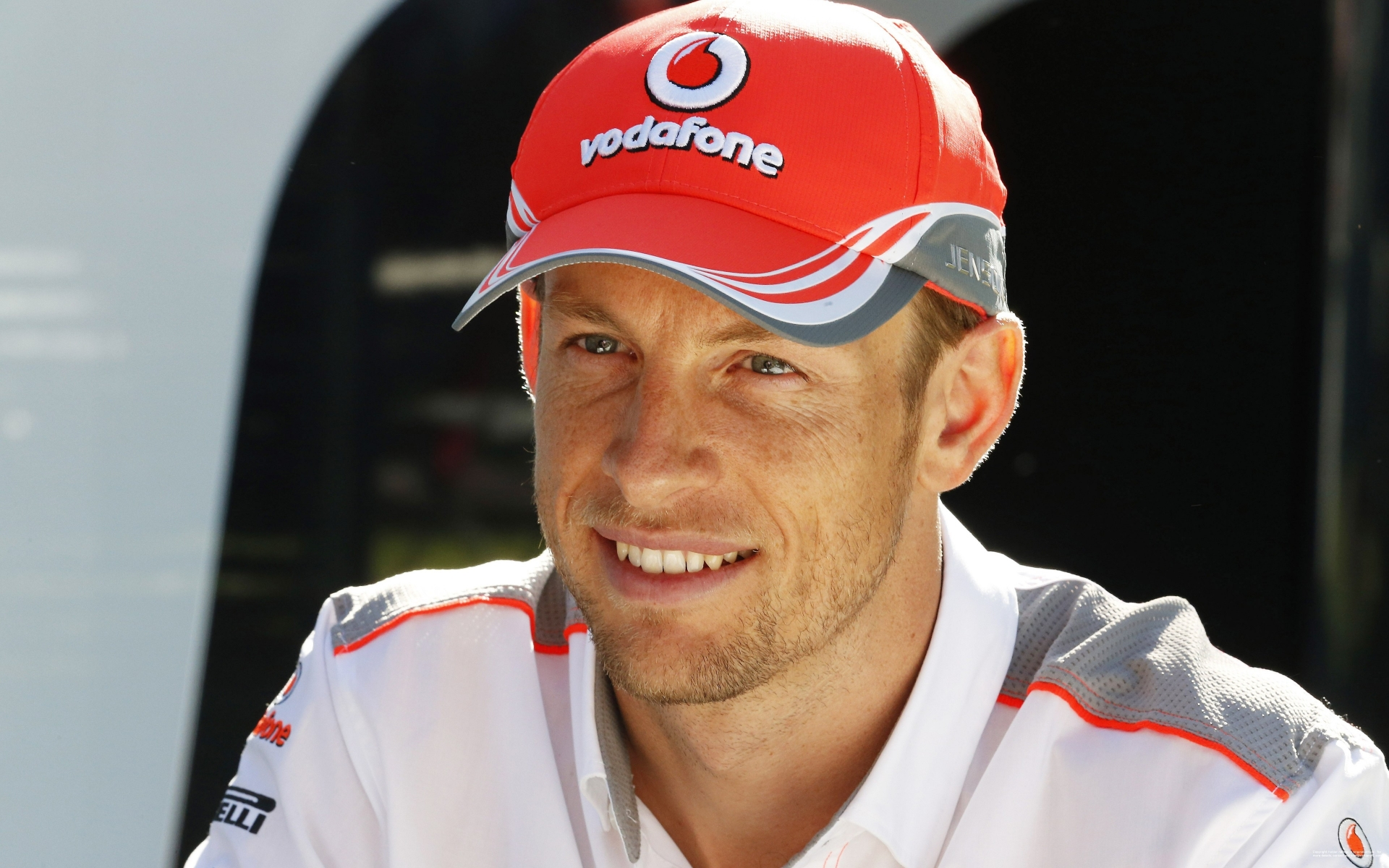 Jenson Button Vodafone for 1920 x 1200 widescreen resolution