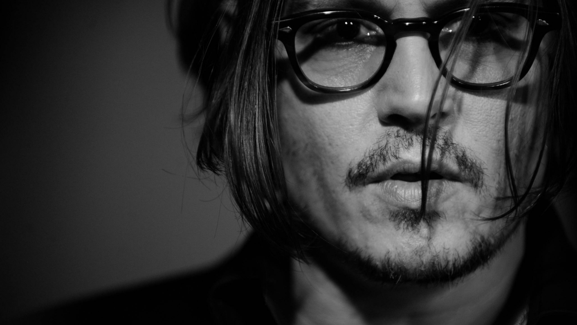 Johnny Depp Monochrome for 1920 x 1080 HDTV 1080p resolution