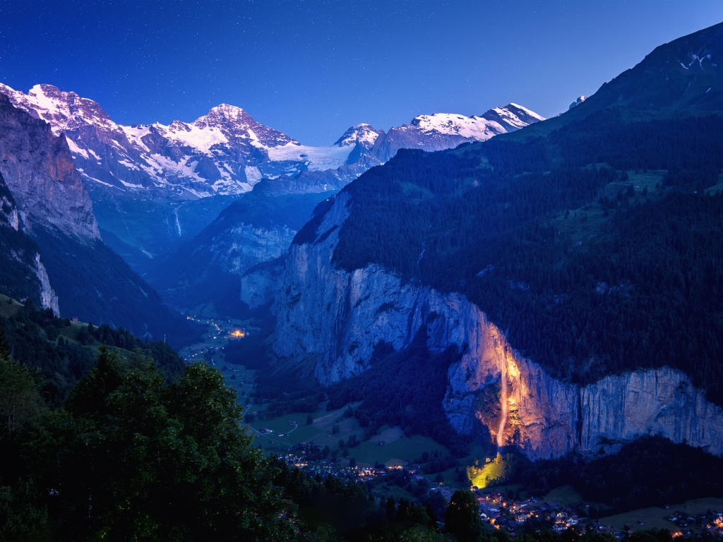 Lauterbrunnen Valley for 1024 x 768 resolution