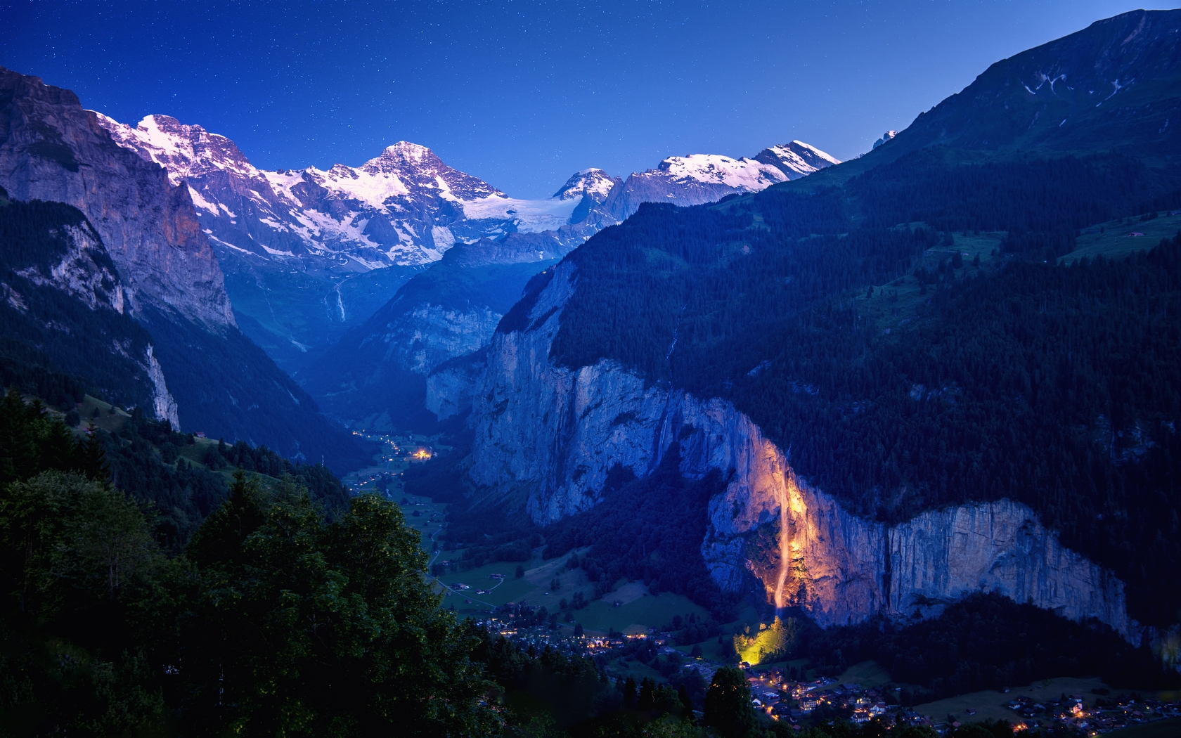 Lauterbrunnen Valley for 1680 x 1050 widescreen resolution