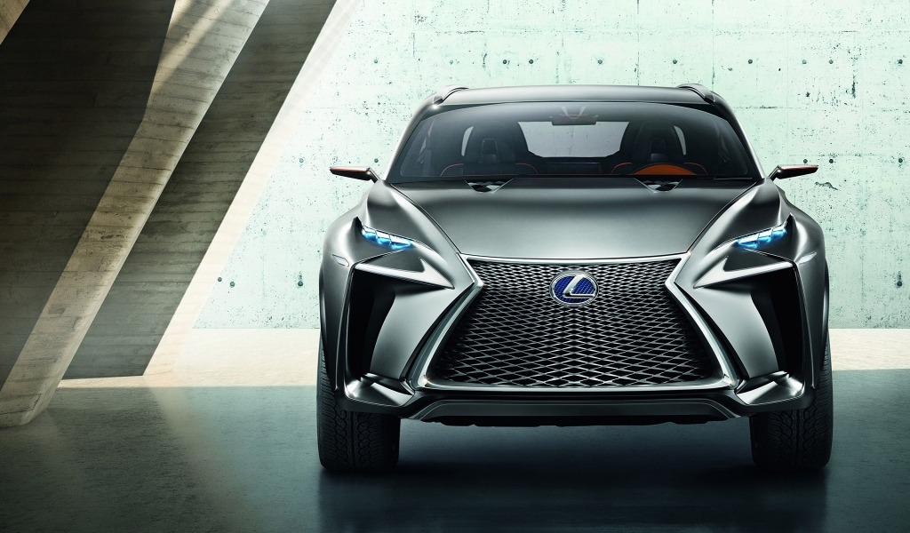 Lexus LF NX Crossover Concept for 1024 x 600 widescreen resolution