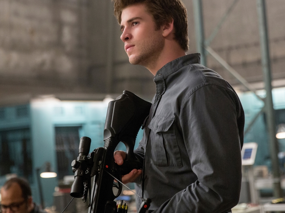 Liam Hemsworth in The Hunger Games for 1152 x 864 resolution