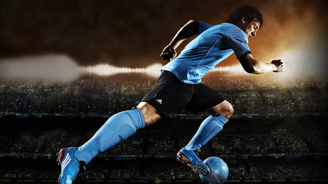 Lionel Messi Adidas for 1366 x 768 HDTV resolution