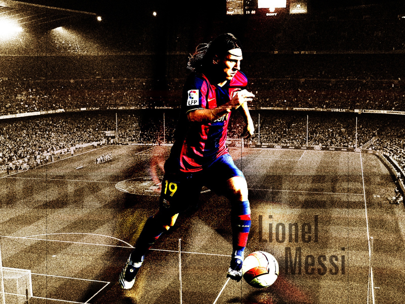 Lionel Messi Barcelona Fan Art for 1600 x 1200 resolution