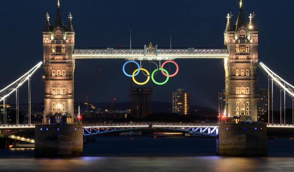 London Bridge 2012 Olympics for 1024 x 600 widescreen resolution