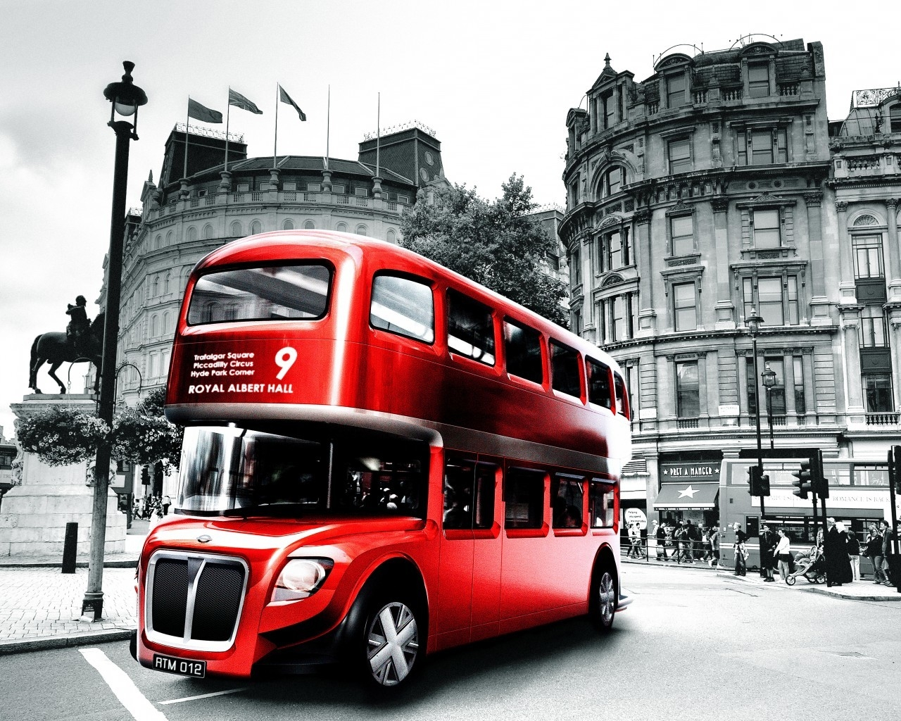 London Bus Design for 1280 x 1024 resolution
