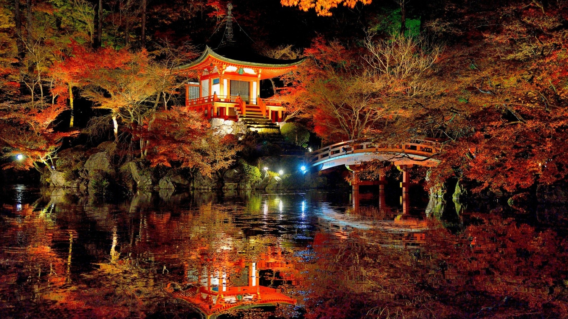 Lovely Japanese Garden for 1920 x 1080 HDTV 1080p resolution