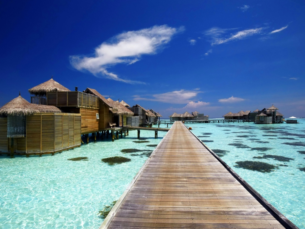 Luxury Resort in Maldives for 1024 x 768 resolution