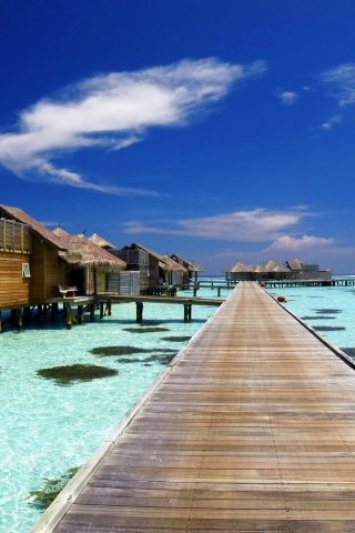 Luxury Resort in Maldives for 320 x 480 iPhone resolution