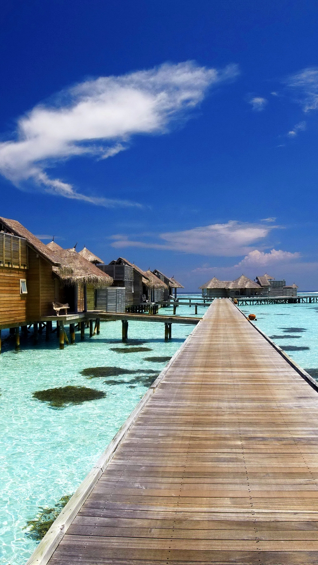 Luxury Resort in Maldives for 640 x 1136 iPhone 5 resolution