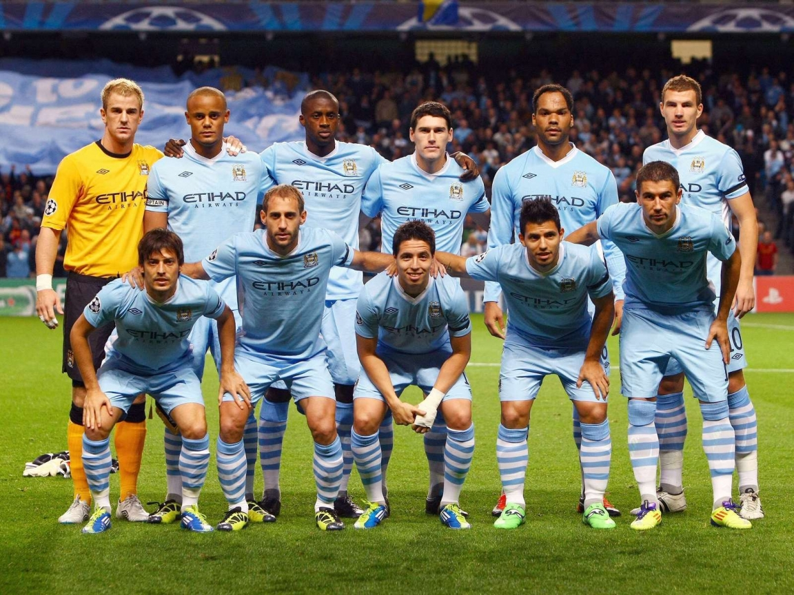 Man City Champions League for 1152 x 864 resolution