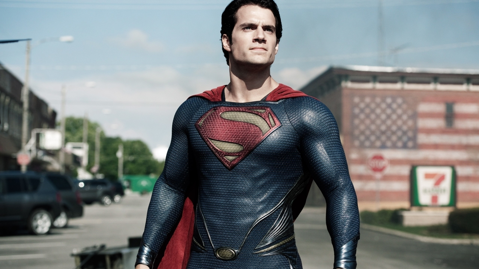 Man of Steel Pose for 1536 x 864 HDTV resolution