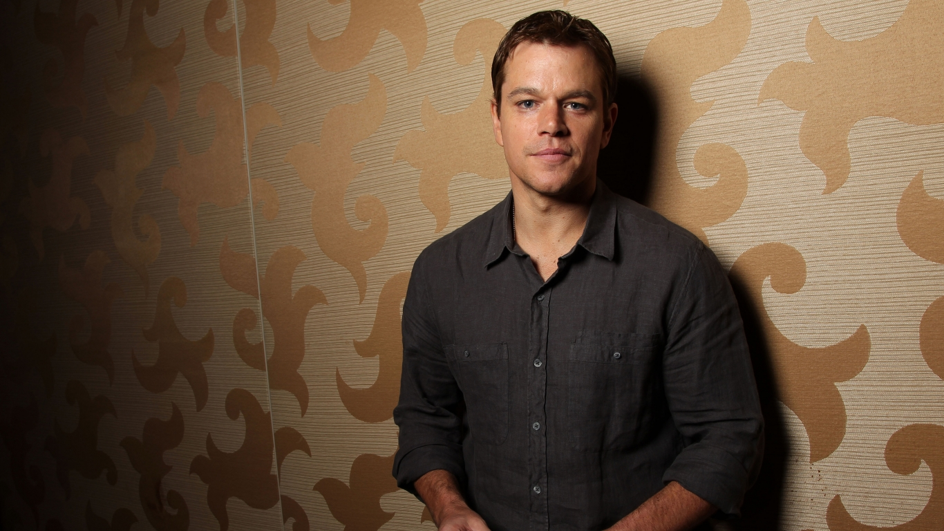 Matt Damon Actor for 1366 x 768 HDTV resolution