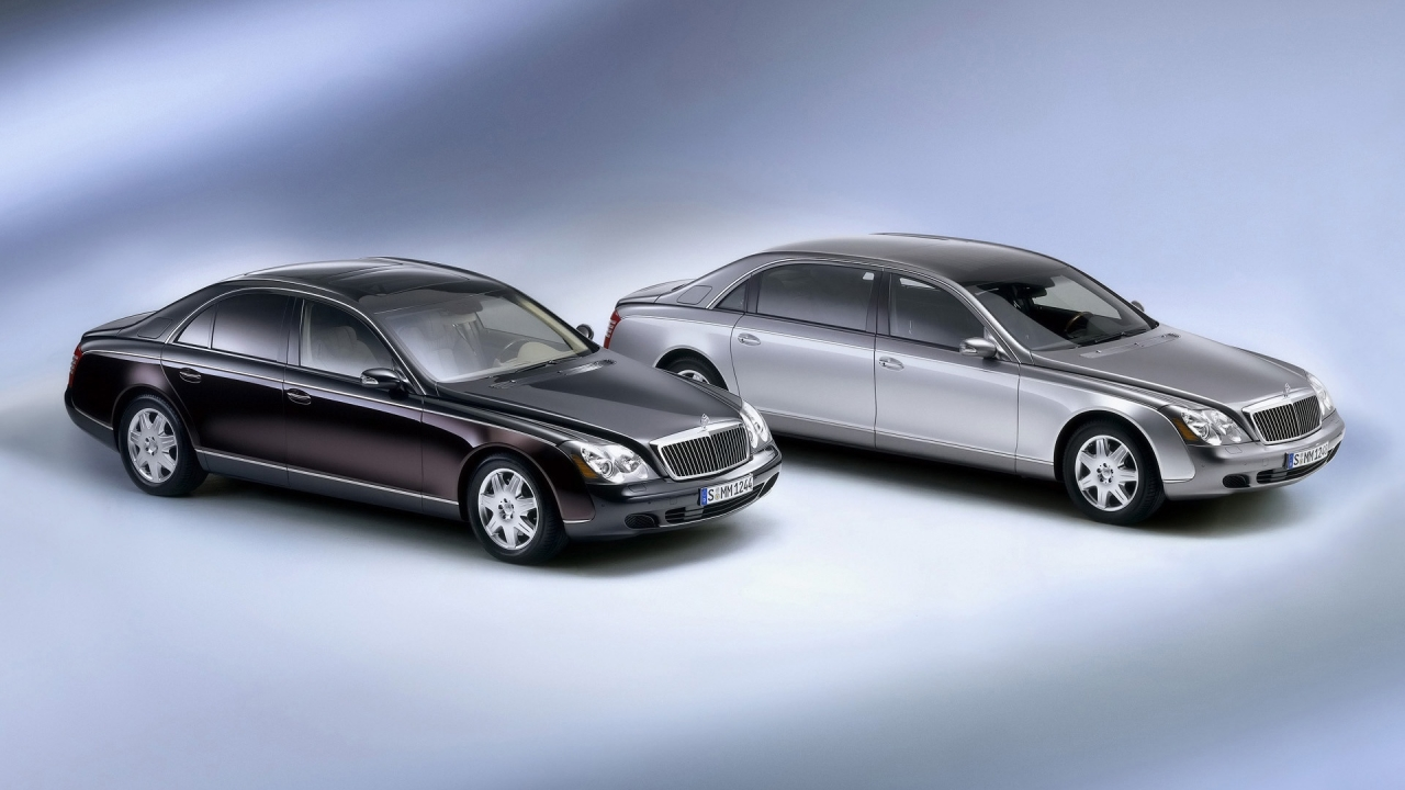 Maybach 62 and 57 Left Front for 1280 x 720 HDTV 720p resolution