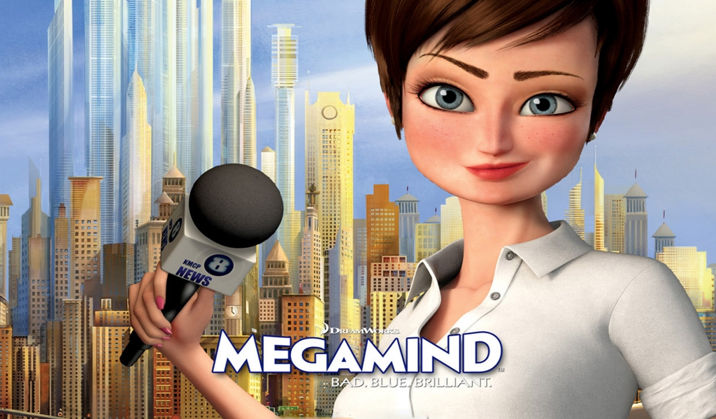 Megamind Roxanne Ritchie for 1024 x 600 widescreen resolution