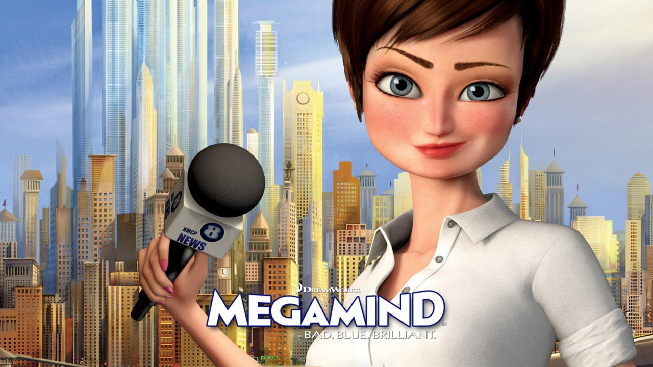 Megamind Roxanne Ritchie for 1280 x 720 HDTV 720p resolution