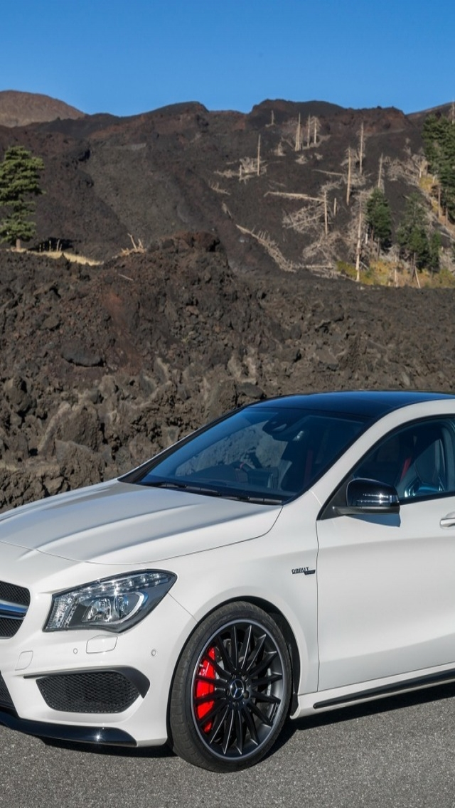 Mercedes Benz CLA 45 AMG for 640 x 1136 iPhone 5 resolution