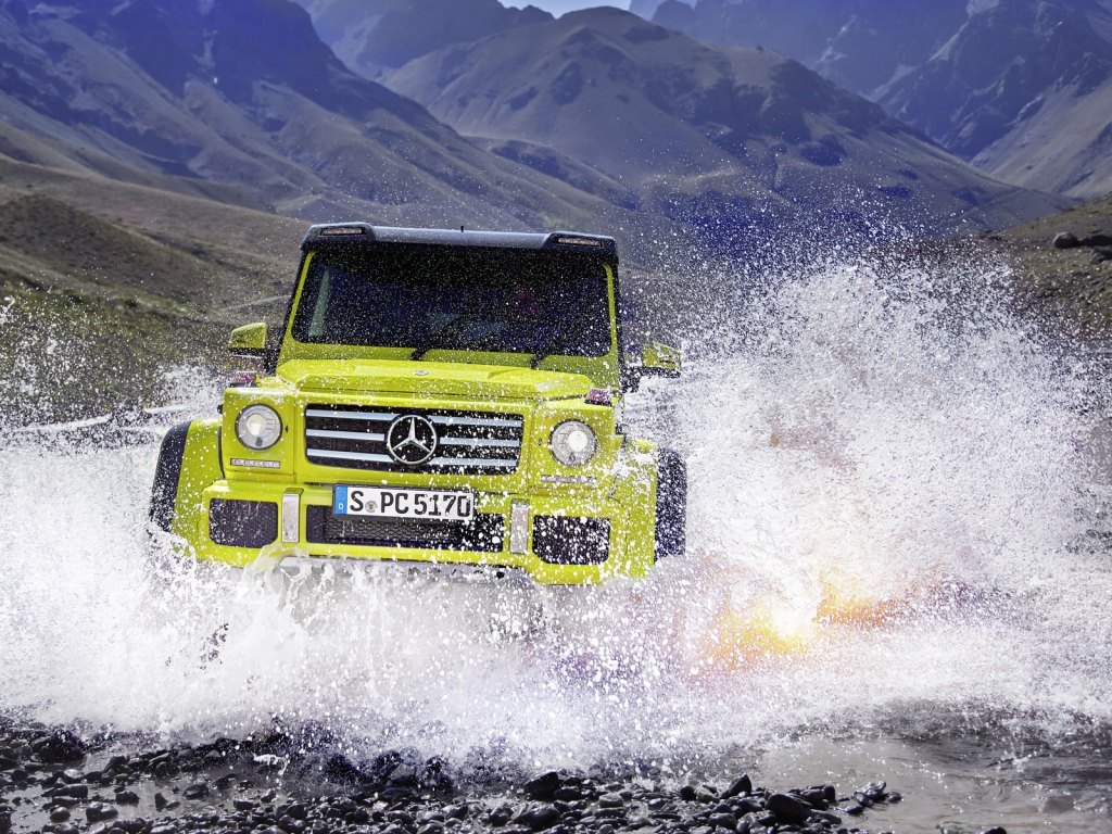 Mercedes Benz G500 2015 Off Road for 1024 x 768 resolution