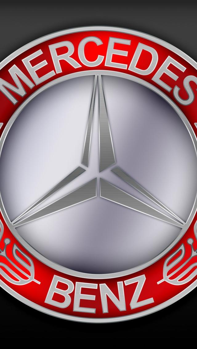 Mercedes Benz Logo 640 X 1136 Iphone 5 Wallpaper