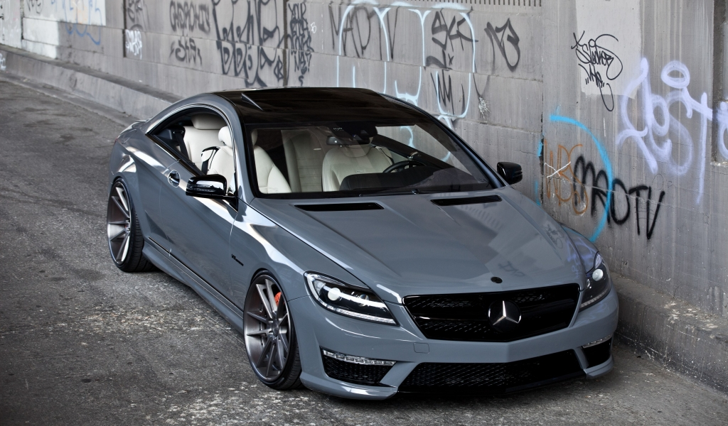 Mercedes CL63 AMG for 1024 x 600 widescreen resolution