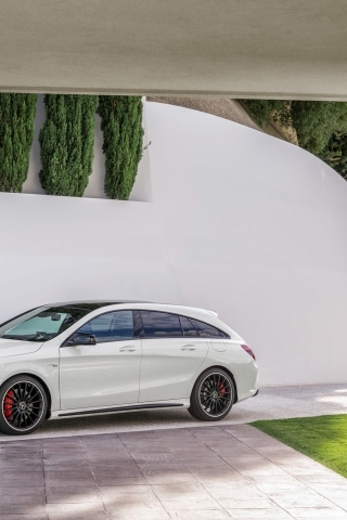 Mercedes CLA 45 AMG 2015 for 320 x 480 iPhone resolution