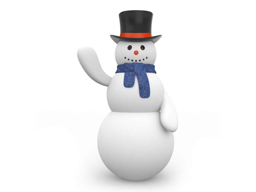 Merry Christmas Snowmen for 1024 x 768 resolution