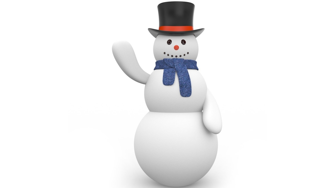 Merry Christmas Snowmen for 1280 x 720 HDTV 720p resolution