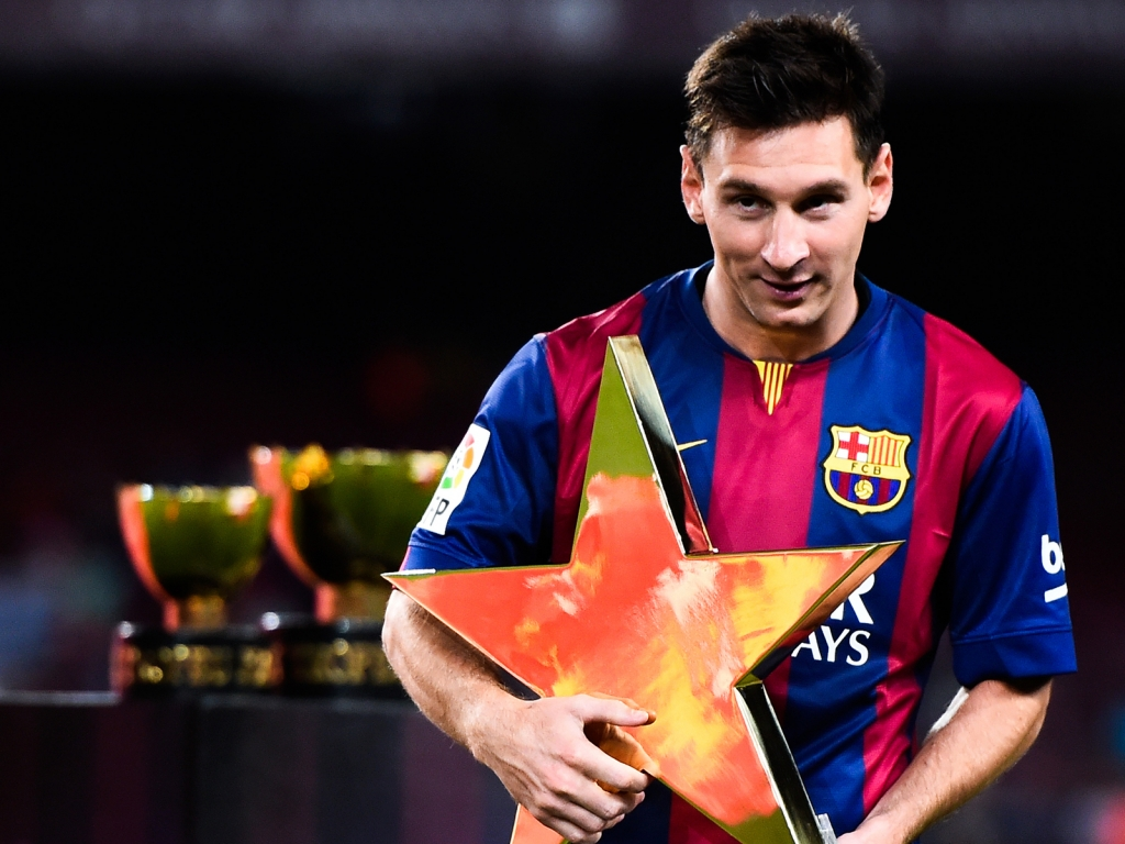 Messi Star Shaped Award for 1024 x 768 resolution