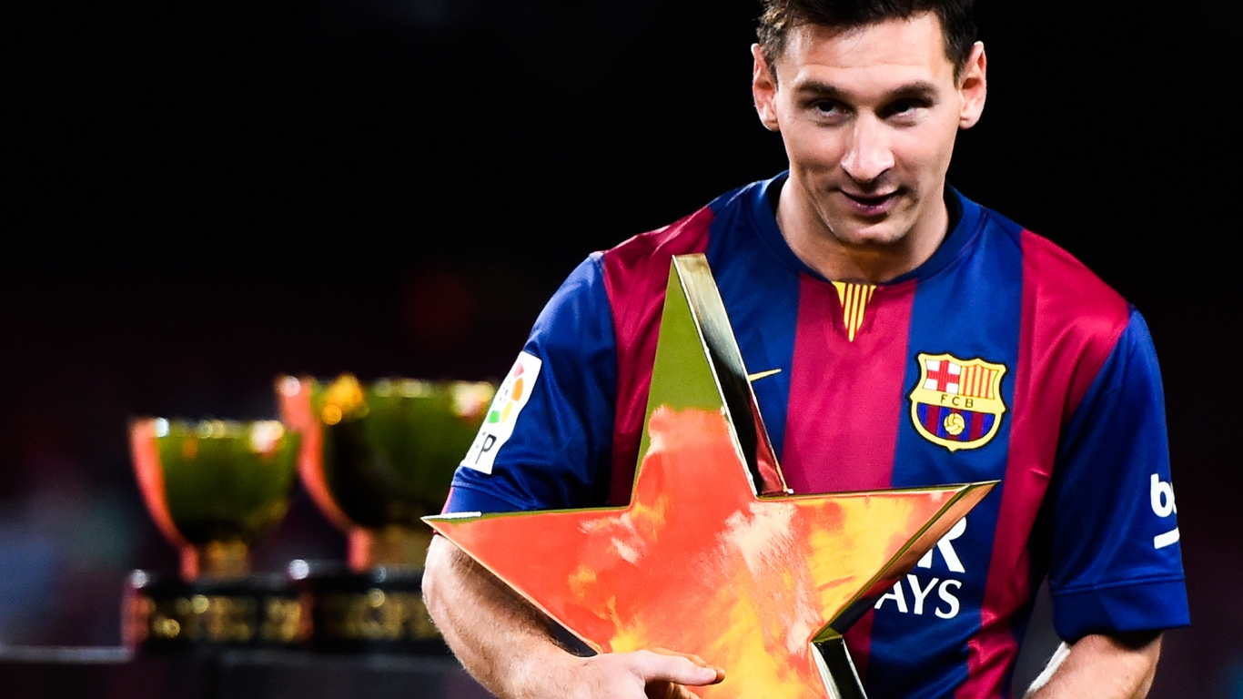 Messi Star Shaped Award for 1366 x 768 HDTV resolution